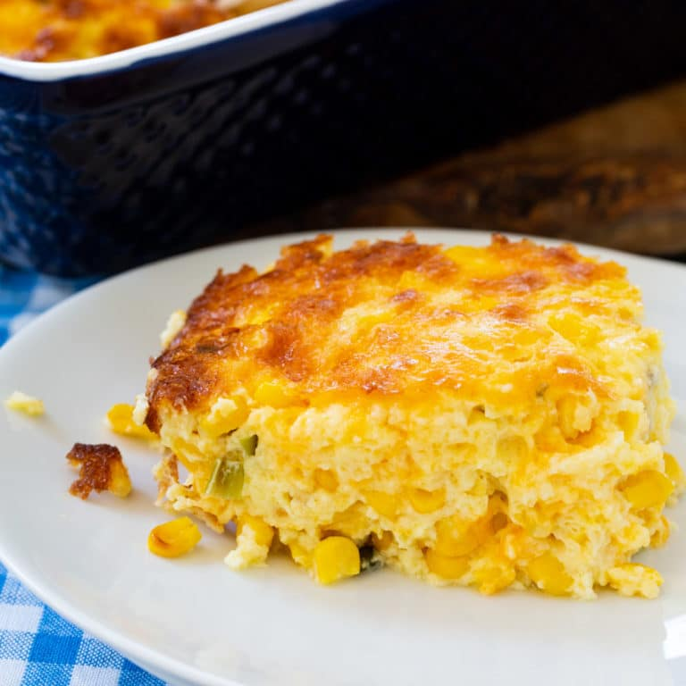 Three Cheese Corn Pudding