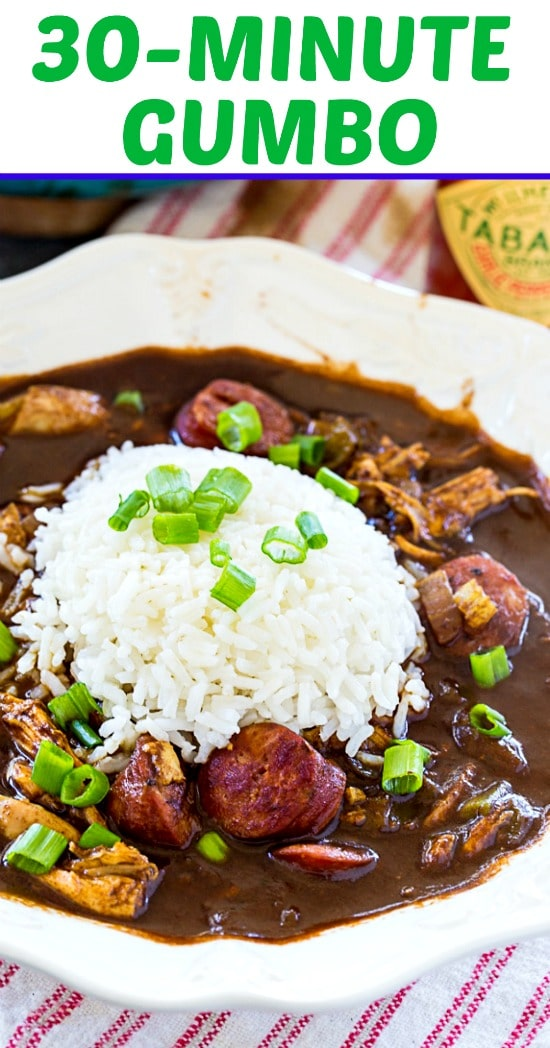 30-Minute Gumbo- so quick and easy! #cajun #mardigras