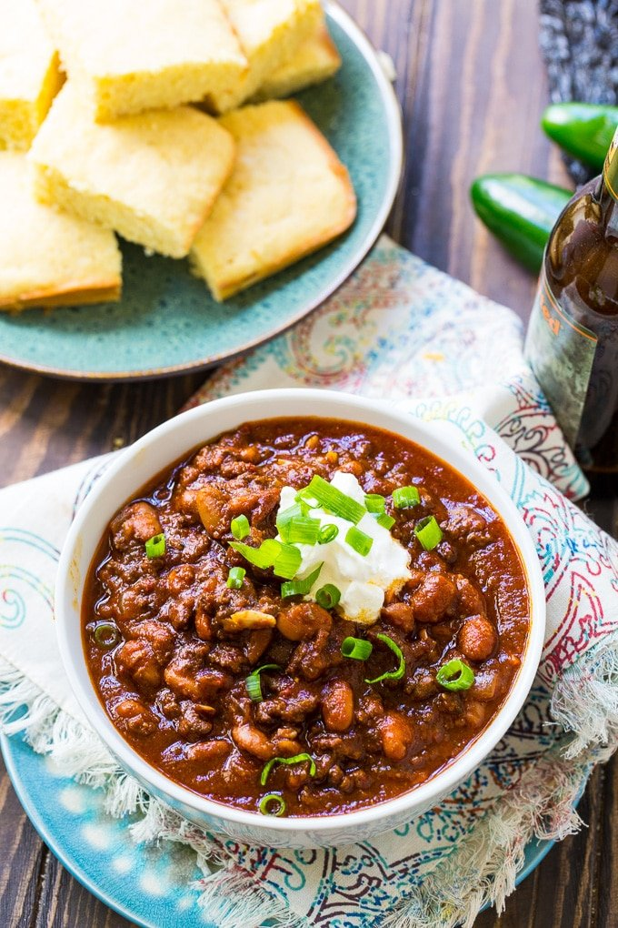 Five-Alarm Chili- this chili has a whole lot of spice!