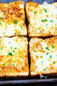 Four Slices of Air Fryer Cheesy Texas Toast.