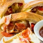 Air Fryer Pepperonini and Peppers Stromboli