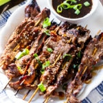 Asian Beef Skewers with dipping sauce