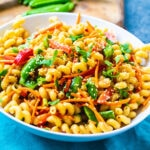 Asian Pasta Salad in a bowl.