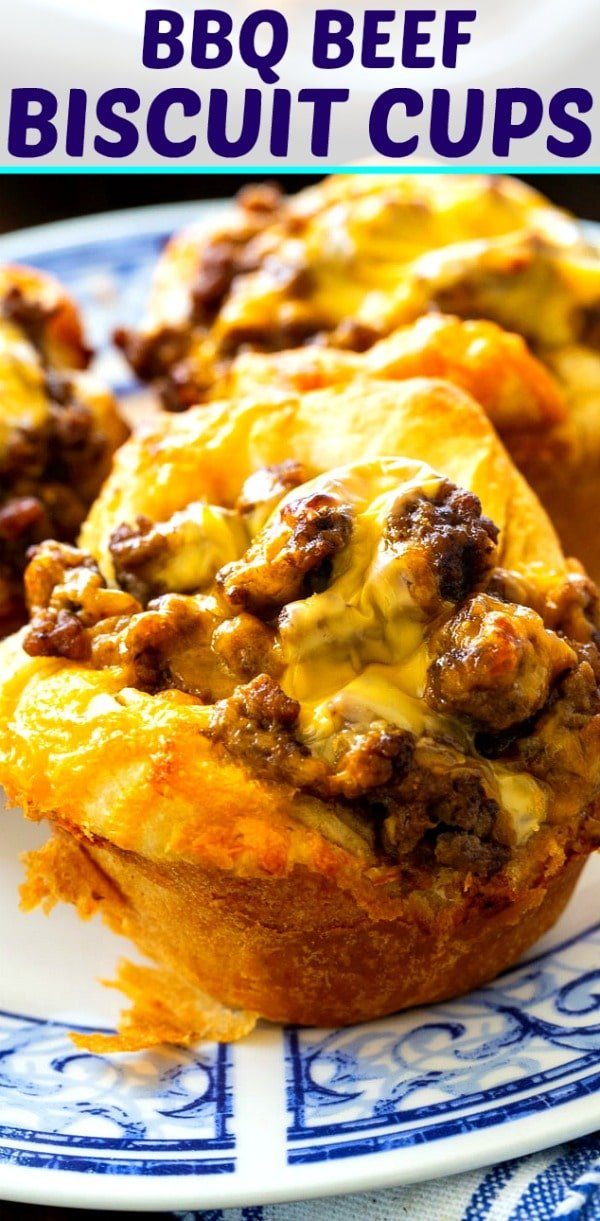 BBQ Ground Beef Biscuit Cups