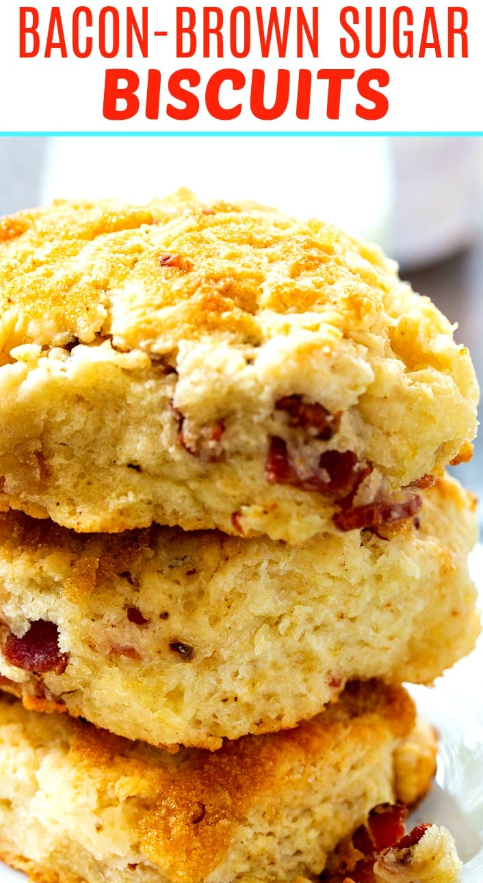 Close-up of Brown Sugar Bacon Biscuits