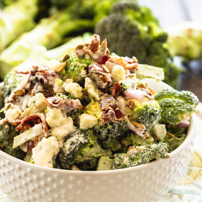 Bacon Blue Cheese Broccoli Salad Spicy Southern Kitchen