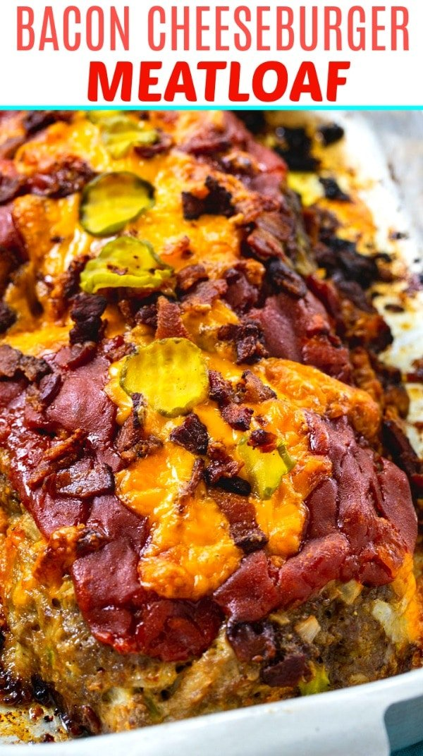 close-up of Bacon Cheeseburger Meatloaf