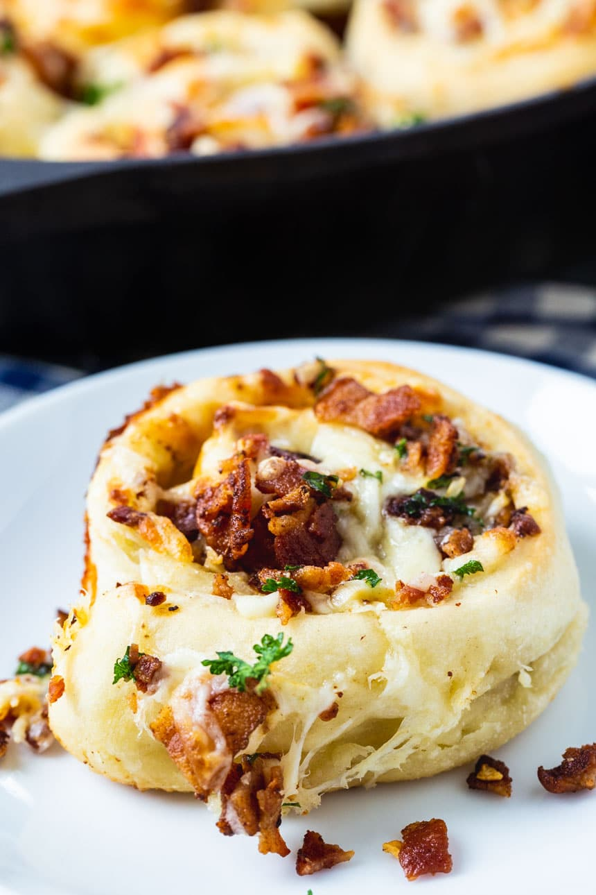Bacon Stuffed Cheesy Garlic Rolls