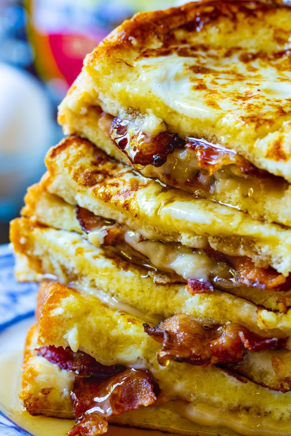 Close-up of Bacon Stuffed French Toast