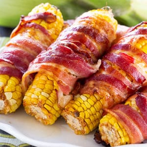 Spicy Bacon Wrapped Corn