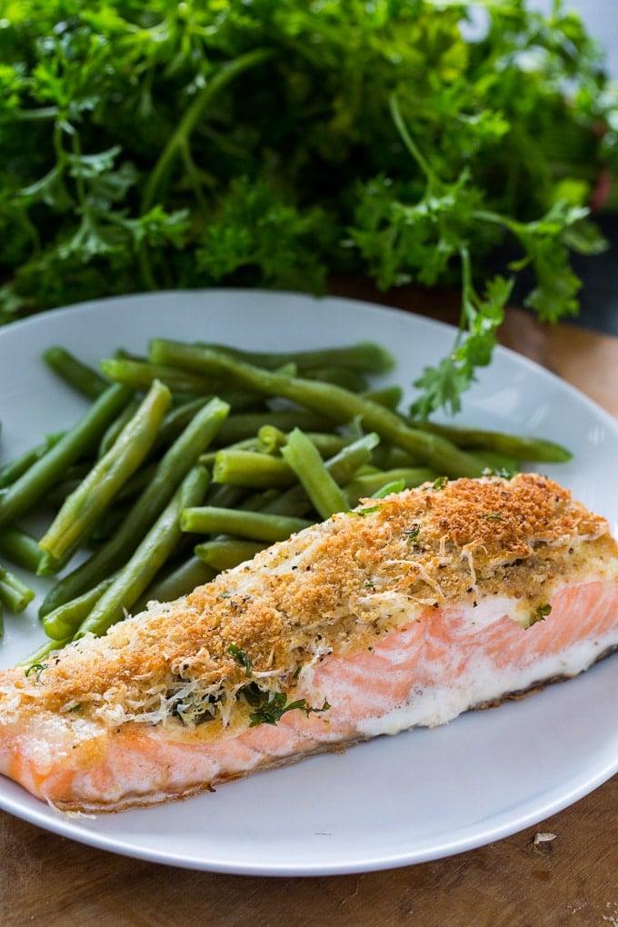 Baked Parmesan Salmon