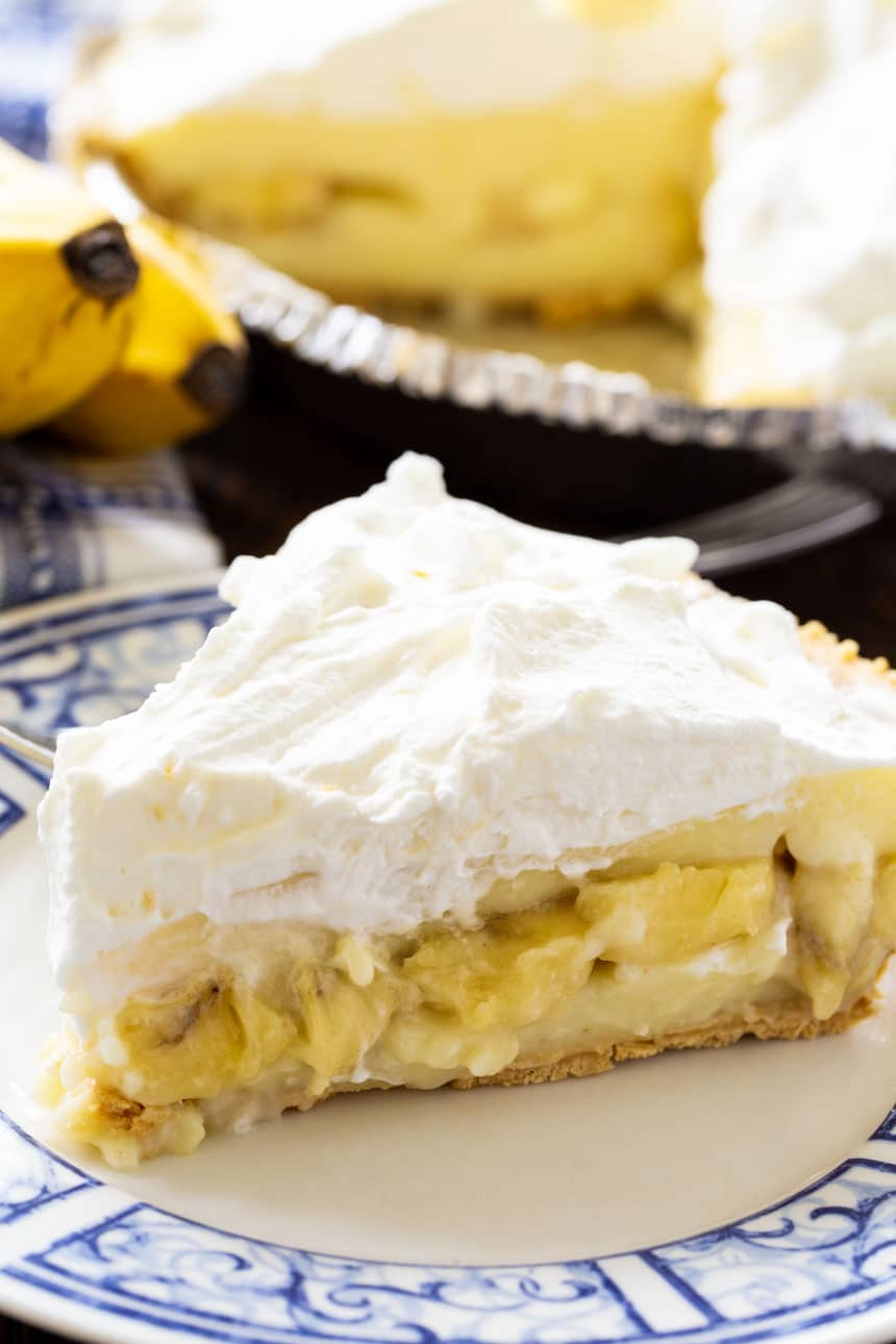 close-up of Banana Cream Pie