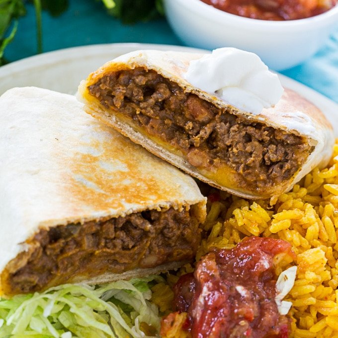 Beef And Bean Burritos Spicy Southern Kitchen