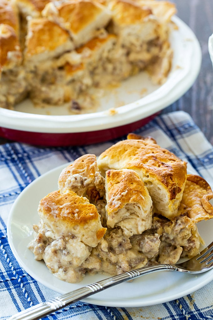 Biscuits and Gravy Pie