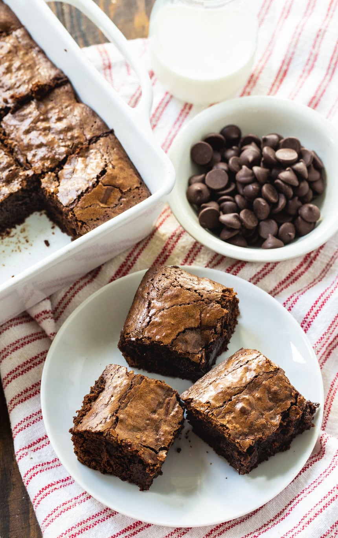 overhead shot of Bittersweet Chocolate Brownies