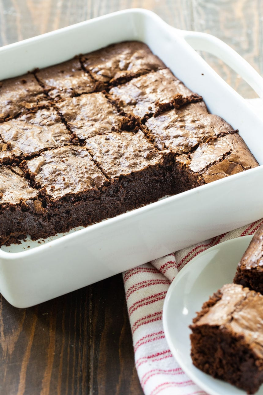 Bittersweet Brownies in a 9-inch baking dish