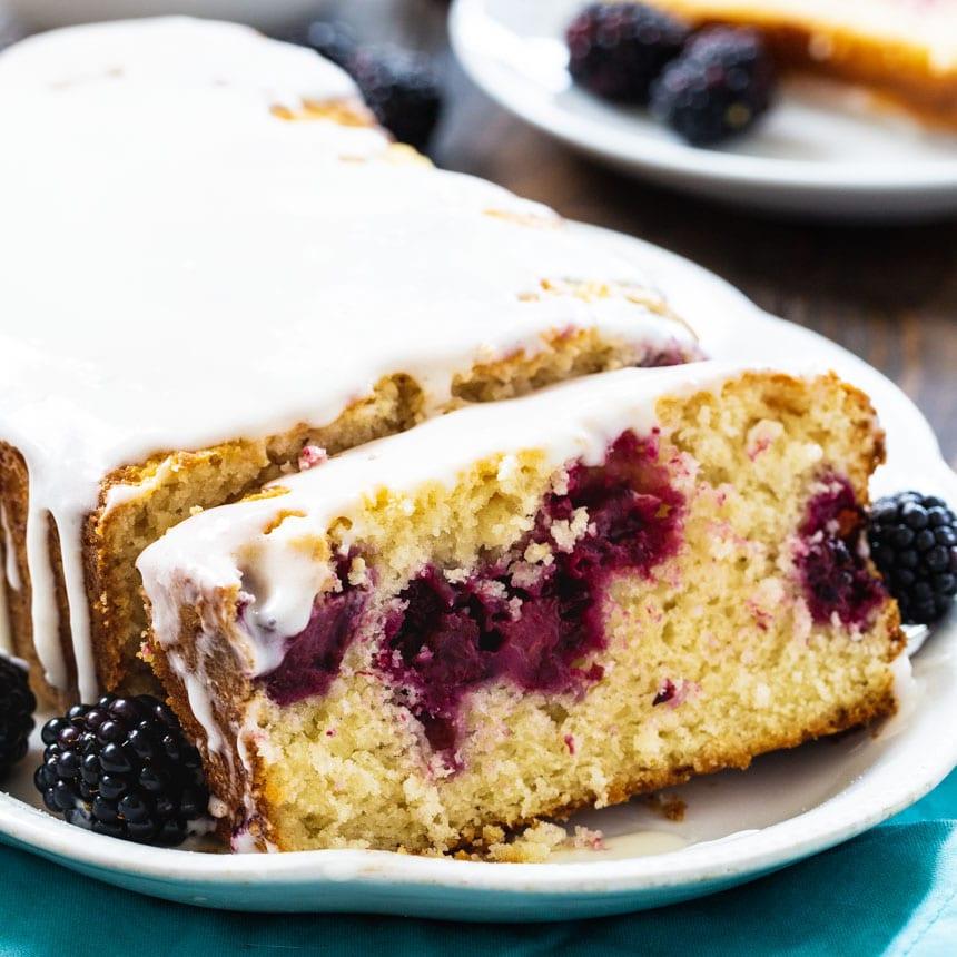 Blackberry Buttermilk Loaf Cake