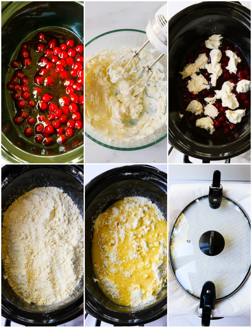 Collage showing the recipe steps.