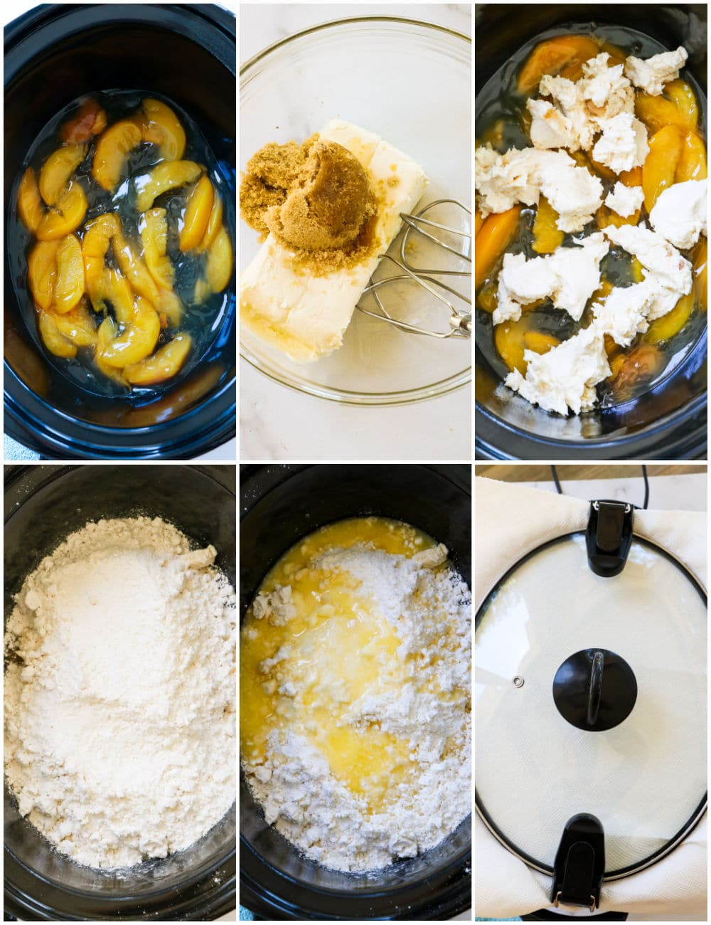 Collage showing steps of recipe.