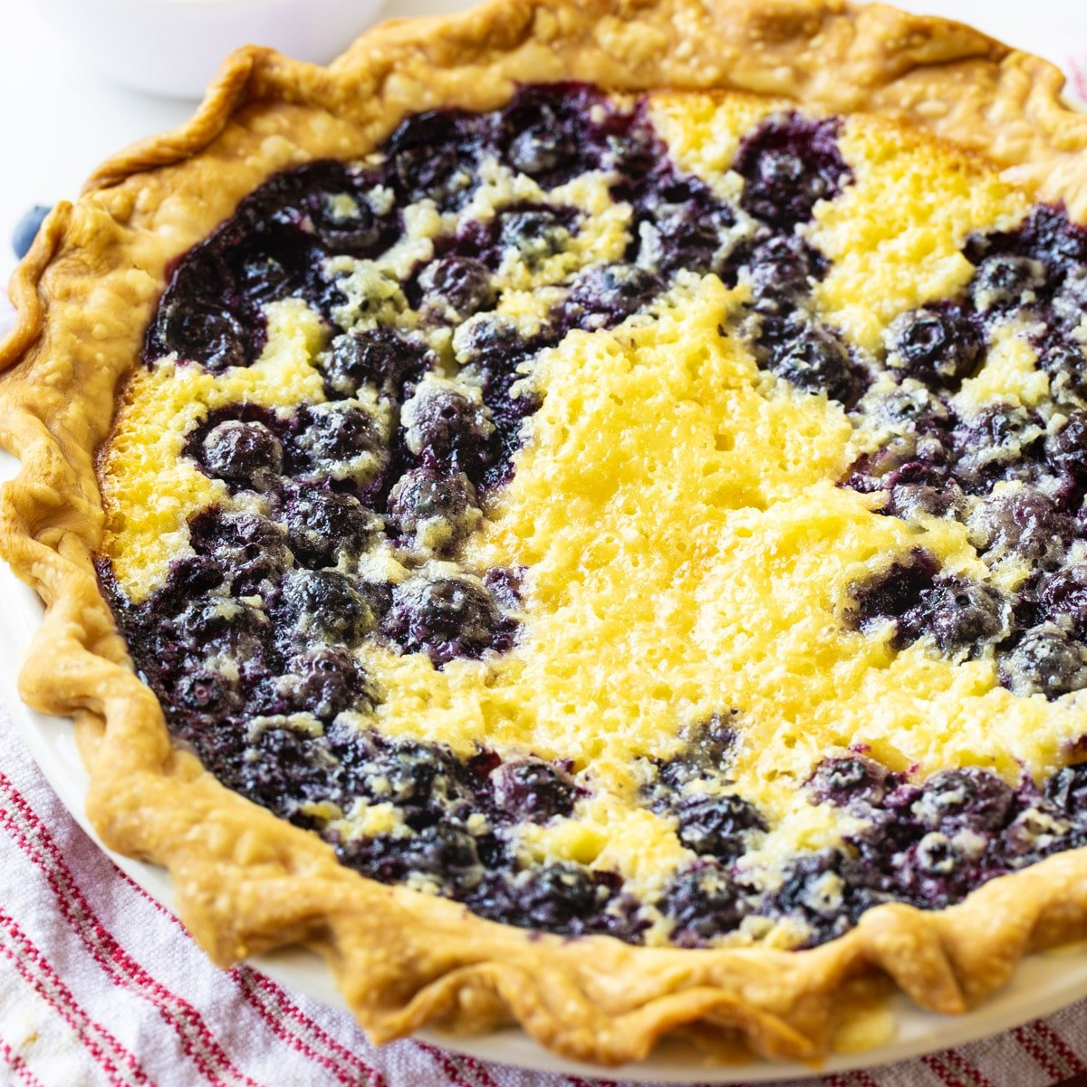 Whole Blueberry Buttermilk Pie