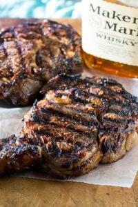Grilled Bourbon Steaks