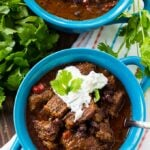 Slow Cooker Brisket Chili