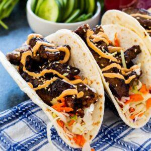 Korean Bulgogi Tacos