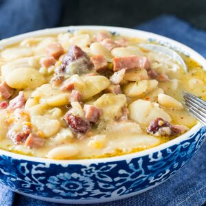 Creamy Butter Beans with Ham