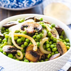 Buttered Peas with Mushrooms