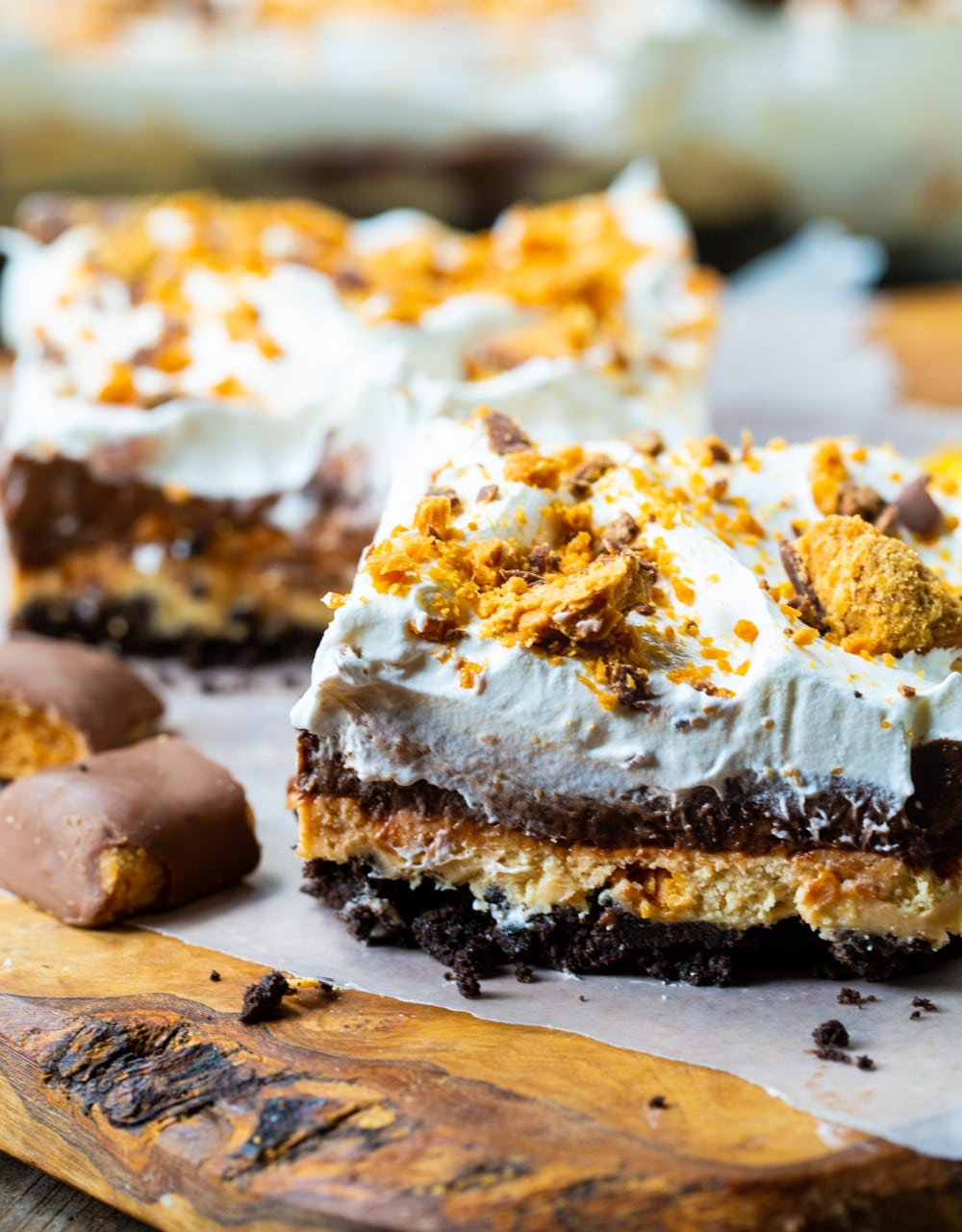 Two Butterfinger Lush slices.