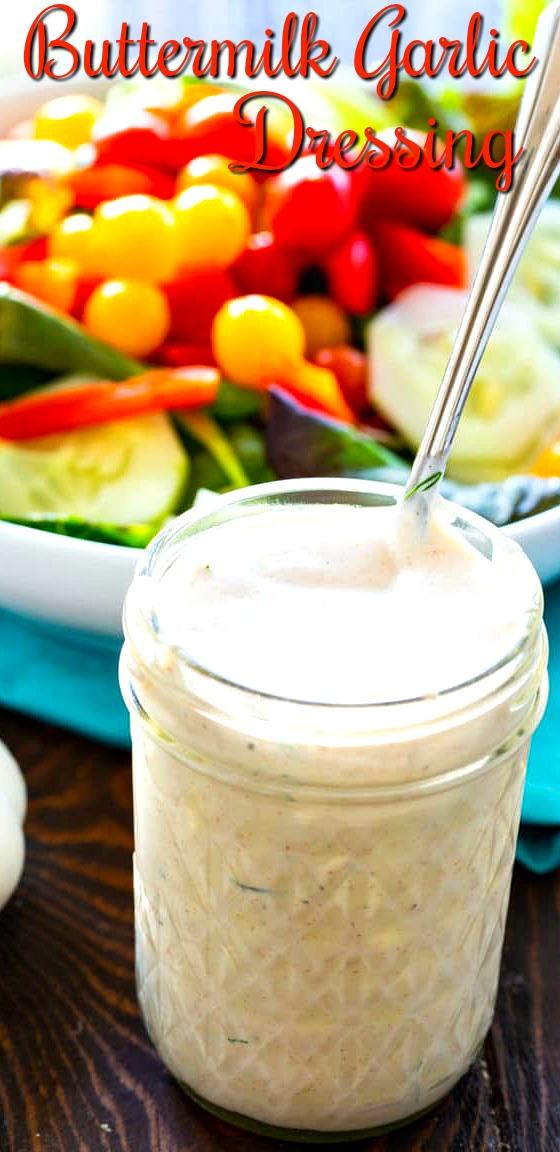 Buttermilk Salad Dressing in a jar