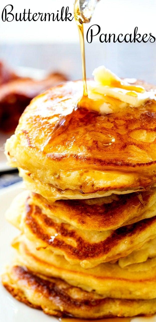 Close-up of Buttermilk Pancakes
