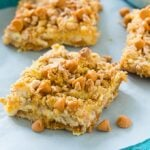 Butterscotch Toffee Cheesecake Bars