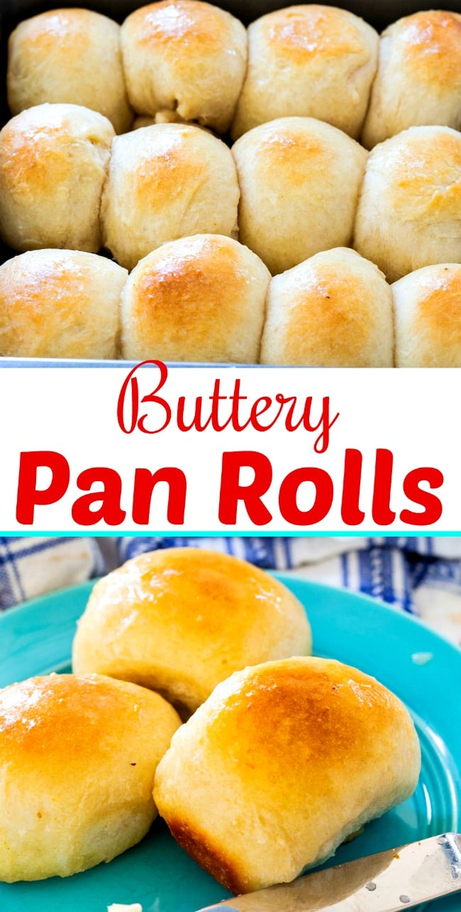 close-up of Buttery Pan Rolls