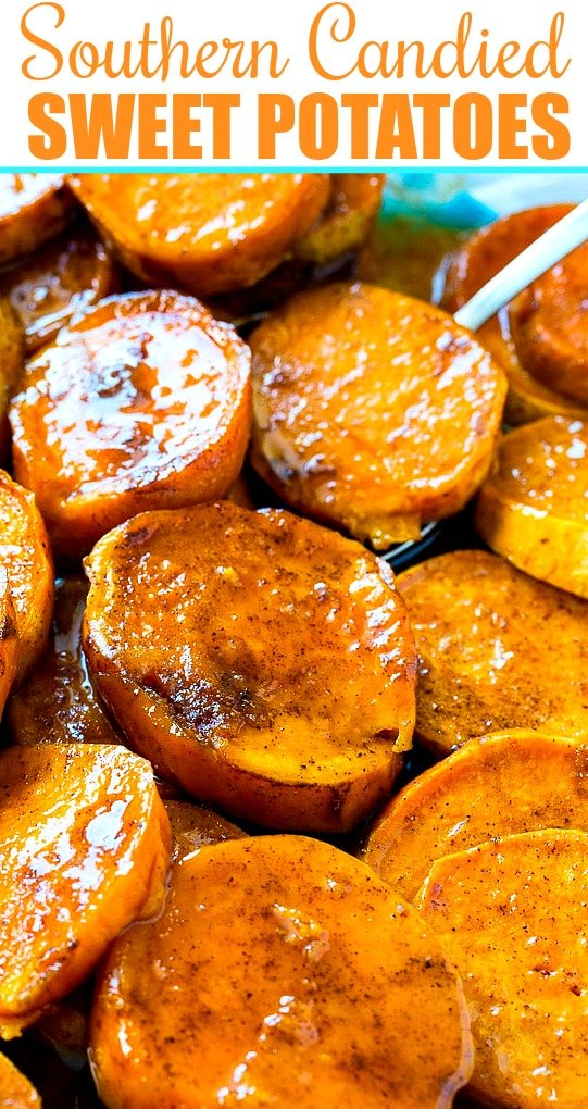 Close-up of Candied Sweet Potatoes