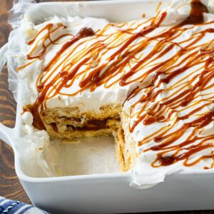 Caramel Ritz Cracker Icebox Dessert