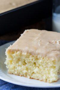 Buttermilk Sheet Cake with Caramel Icing