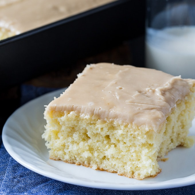 Buttermilk Sheet Cake with Caramel Icing