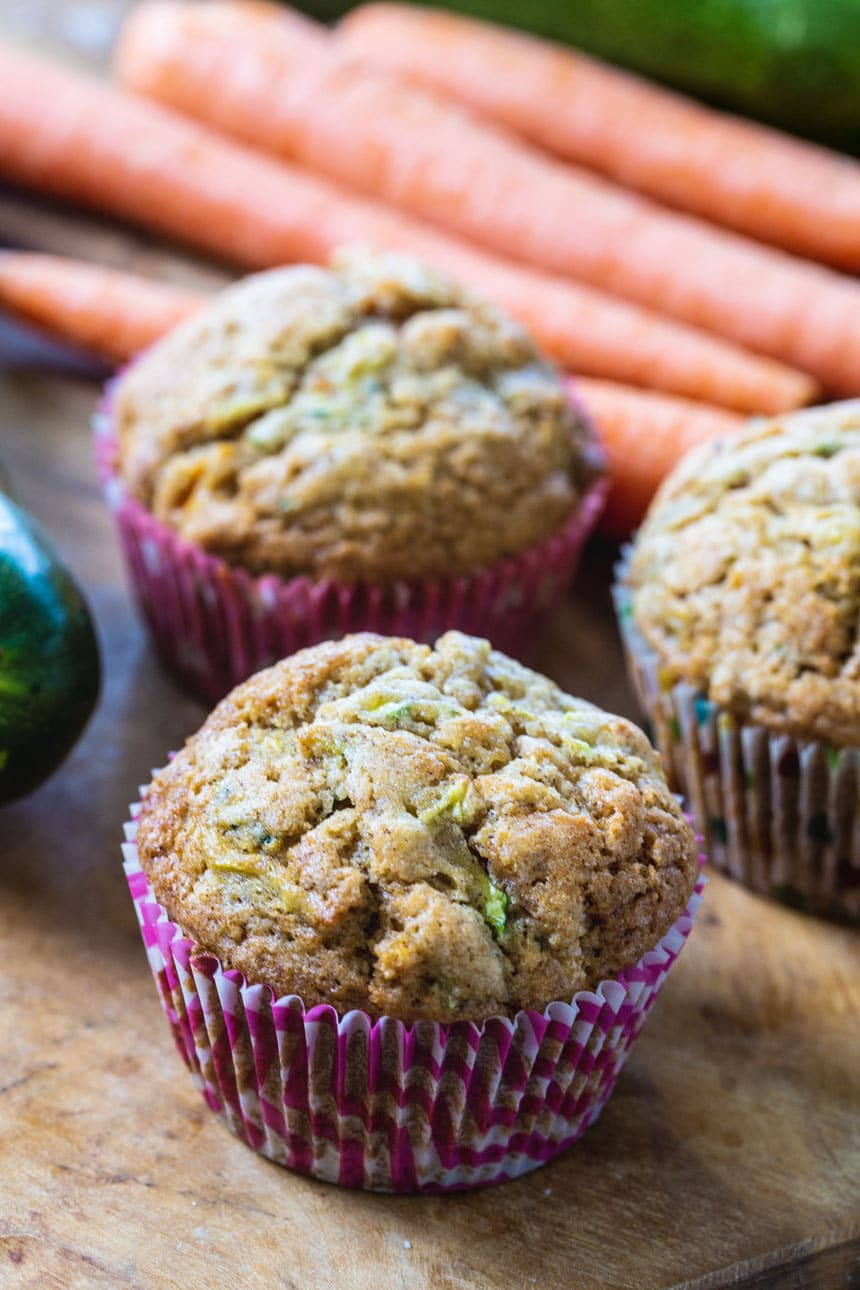 Close-up of Carrot Zucchini Muffins