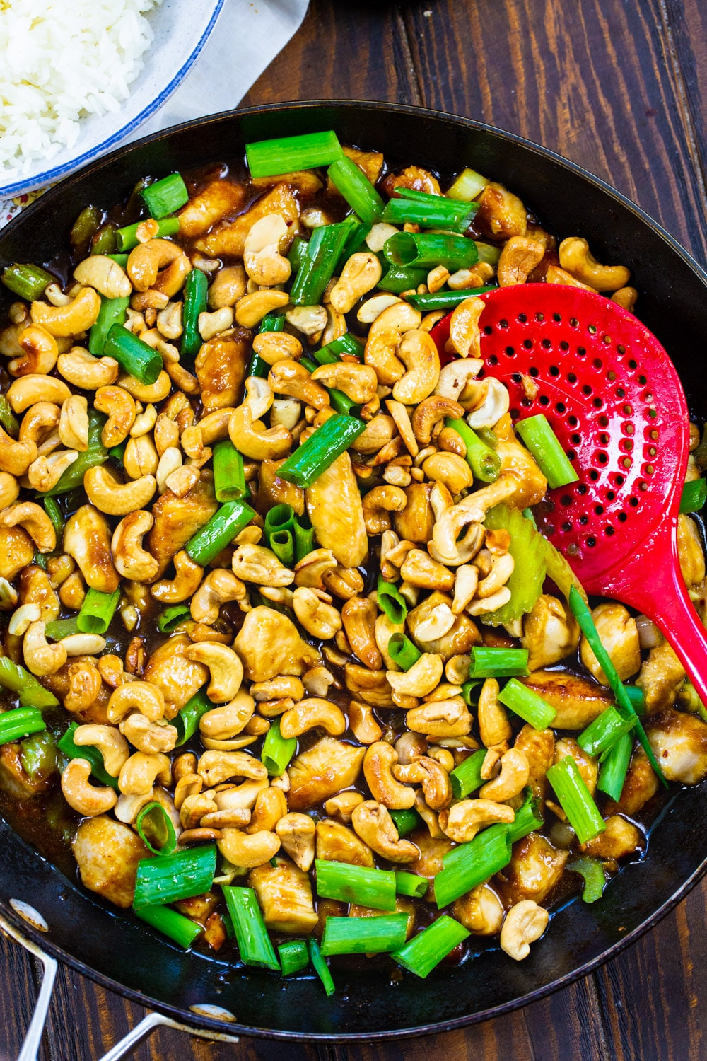 Cashew Chicken in a large skillet.
