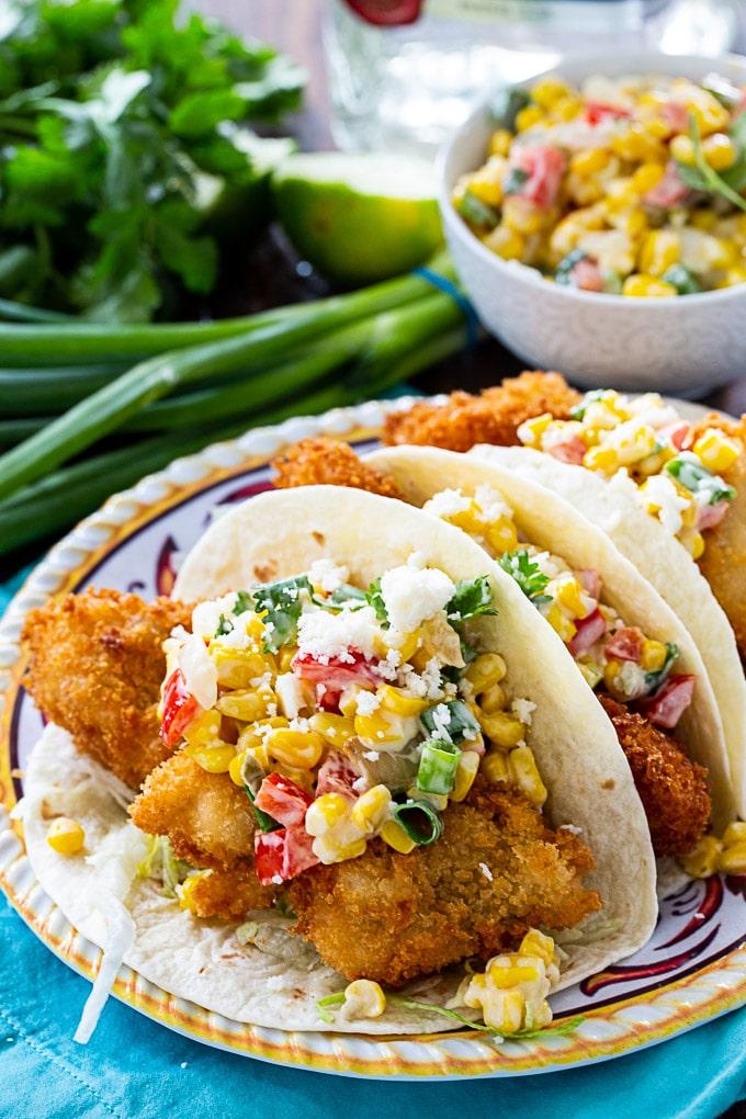 Crunchy Catfish Tacos
