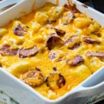 Cheesy Potatoes with Smoked Sausage