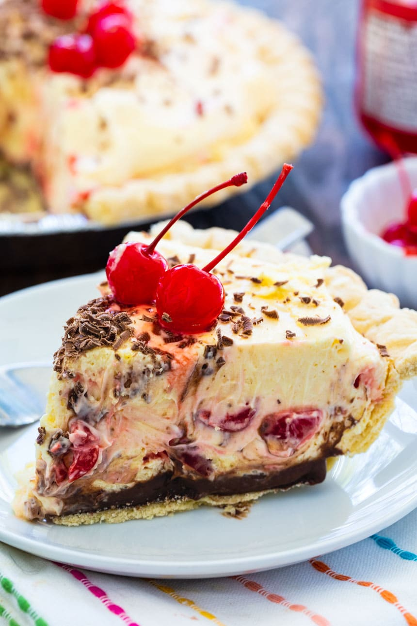 Cherry Almond Mousse Pie