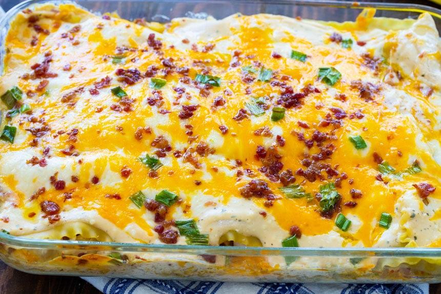 Creamy Chicken Lasagna with Bacon and Ranch