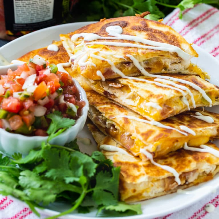 Chicken, Bacon and Ranch Quesadilla