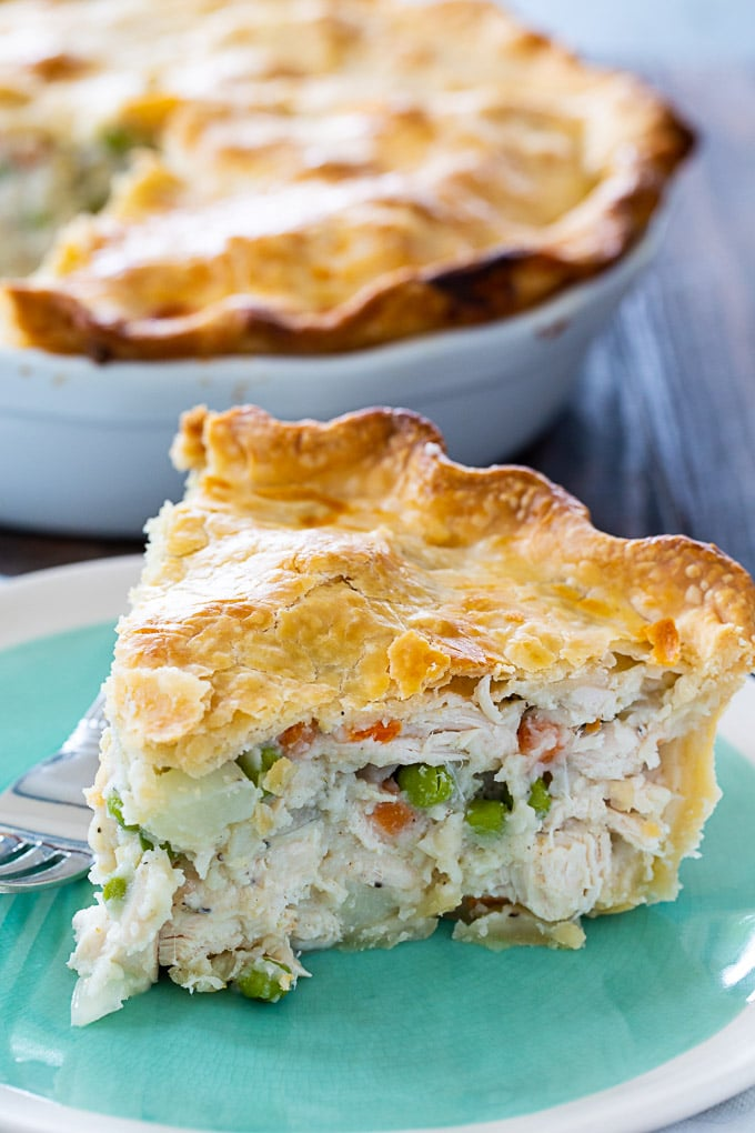 Easy Chicken Pot Pie with double crust