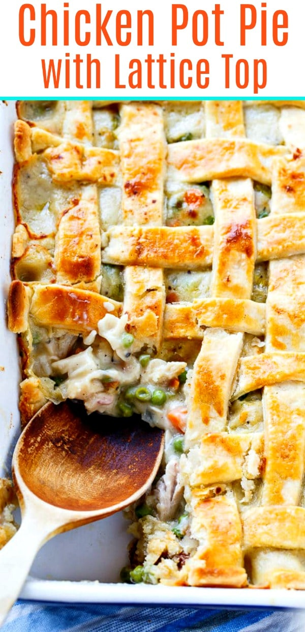 Chicken Pot Pie made in a 9x13-inch pan