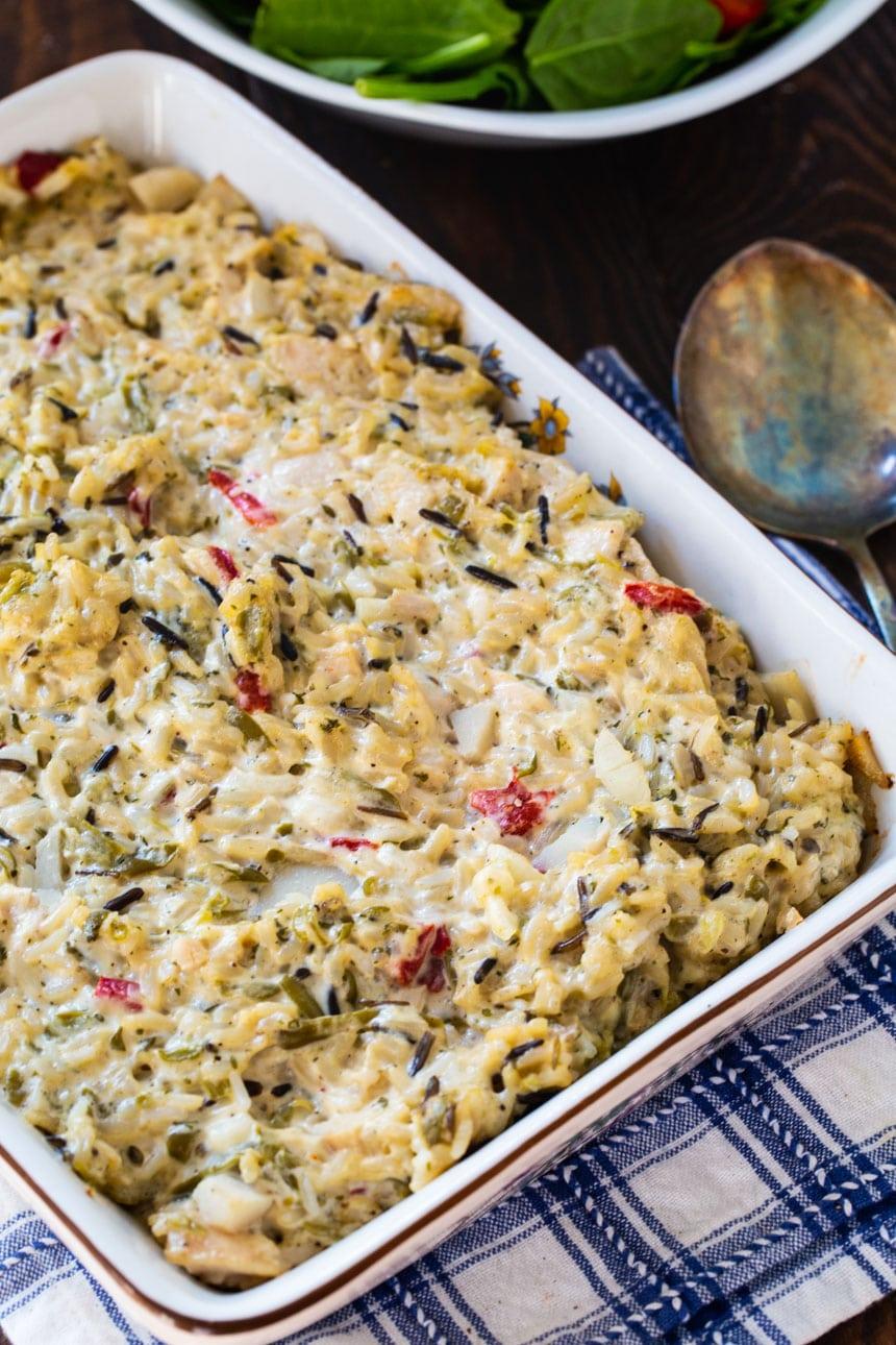 Chicken Casserole in a baking dish.