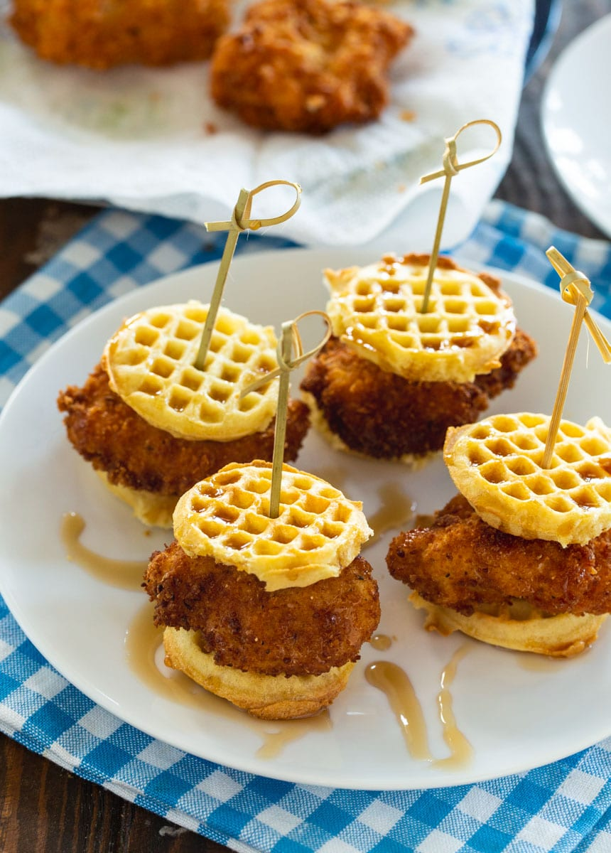 Mini Chicken and Waffle Sliders
