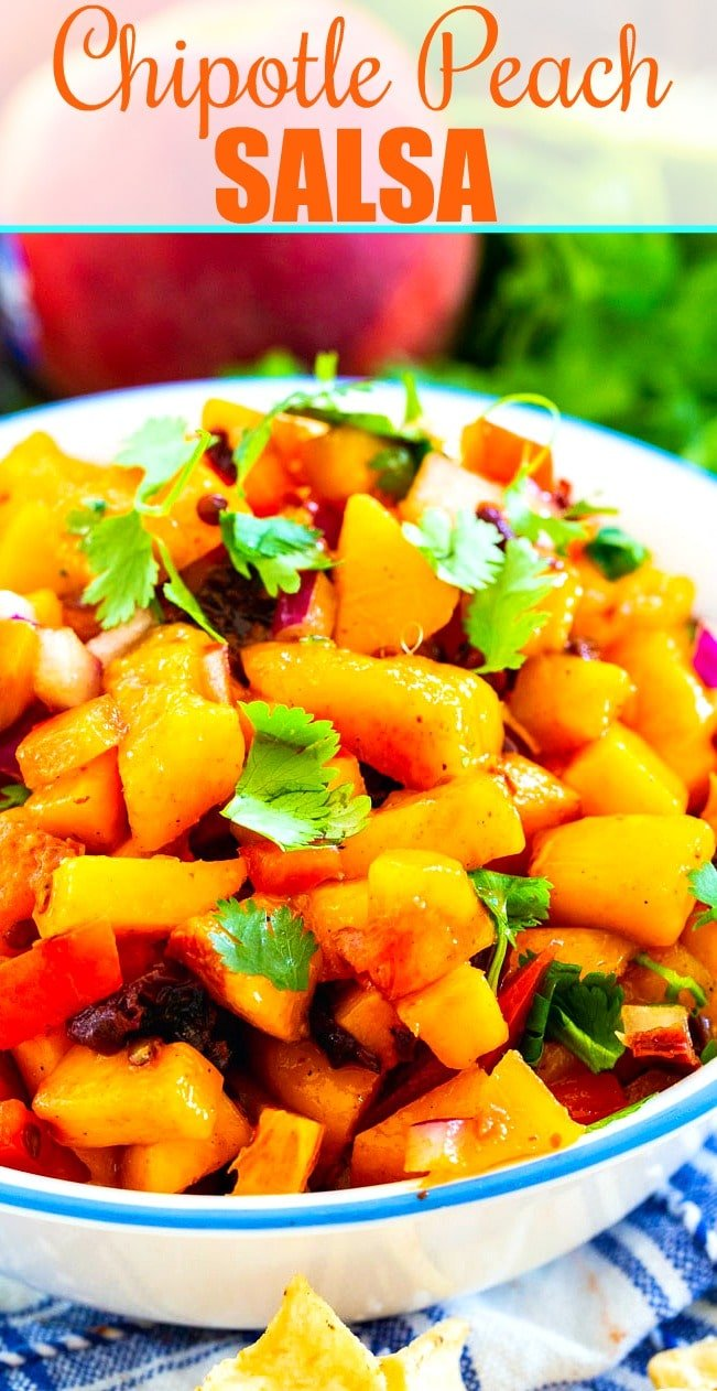 Cloes-up of Chipotle Peach Salsa